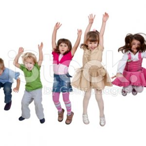 stock-photo-14452645-group-of-happy-young-children-jumping-indoors